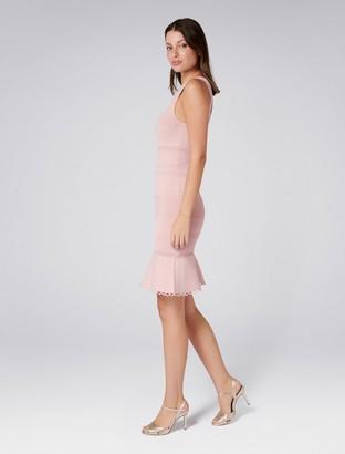 Forever New Lola Pointelle Peplum Dress - Whisper Rose - 8