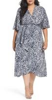Melissa McCarthy Plus Size Women's Print Wrap Dress