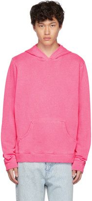 The Elder Statesman Pink Fleece Swirl Hoodie