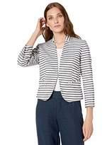 Nine West Women's Stripe KISS Front Jacket