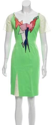 Christopher Kane Geometric Mini Dress