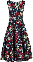 Jolie Moi Retro Print Belted Swing Dress