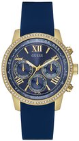 GUESS Blue and Gold-Tone Feminine Classic Sports Watch