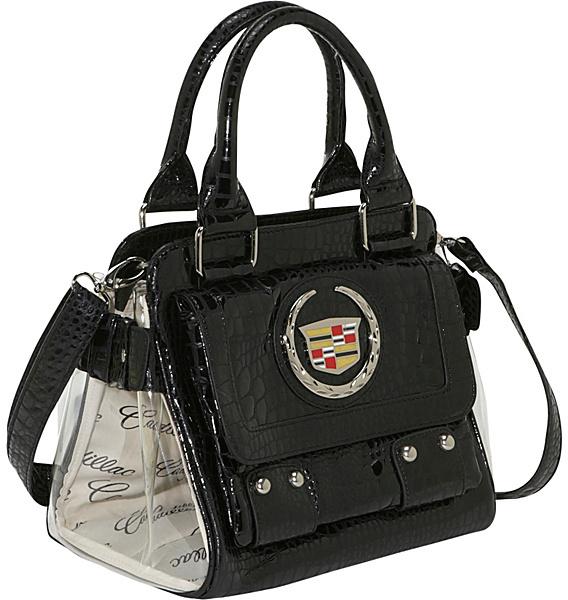 Ashley M Cadillac Faux Patent Leather Satchel