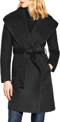 Sentaler Rib Sleeve Alpaca & Wool Wrap Coat