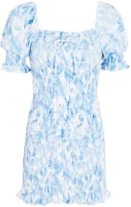 Faithfull The Brand Magnolia Tie-Dye Mini Dress