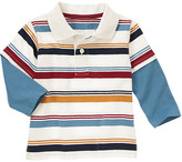 Gymboree Stripe Double Sleeve Polo Shirt