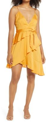 Bellevue The Label Marissa Satin Asymmetrical Minidress