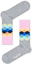 Happy Socks Faded Diamond Sock
