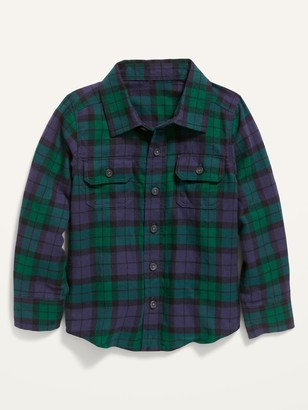 Old Navy Long-Sleeve Plaid Pocket Shirt for Toddler Boys