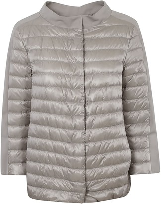 Herno Round Collar Concealed Padded Jacket