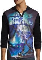 i jeans by Buffalo Cedano Long-Sleeve Hooded Knit Shirt