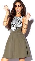 Forever 21 Tiger Graphic Skater Dress