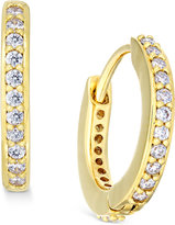 Eliot Danori Gold-Tone Crystal Pavé Huggy Hoop Earrings, Only at Macy's