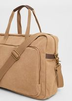Mango Outlet Canvas weekend bag