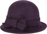 Accessorize Bow Trim Cloche Hat