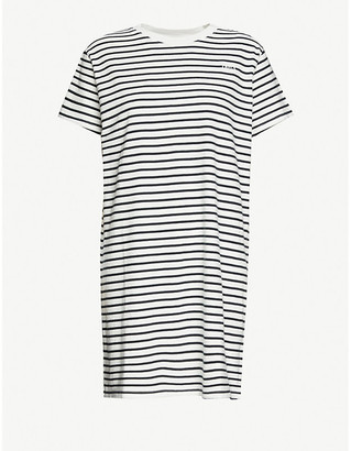 Levi's Lula striped cotton-jersey midi dress
