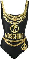 Moschino chain detail one-piece swimsuit - women - Polyester/Spandex/Elastane - 38