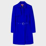 Paul Smith Women's Cobalt Blue Cotton-Blend Trench Coat