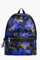 Boohoo Coloured Camo Backpack