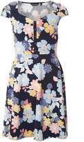 Dorothy Perkins Navy Floral Button Front Dress