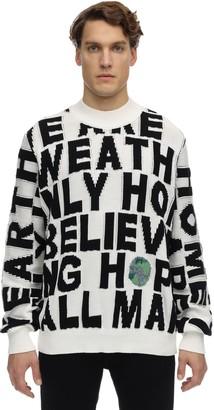 Stella McCartney Block Words Cotton Knit Sweater
