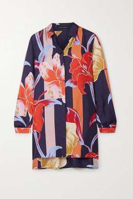 Etro Printed Silk-twill Blouse - Navy