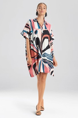 Natori Papillon Caftan Dress