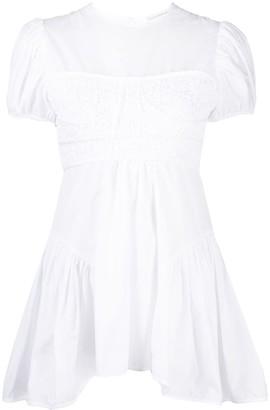 Cecilie Bahnsen Carmin asymmetric embroidered blouse