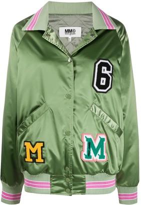 MM6 MAISON MARGIELA Logo Patch Satin Jacket