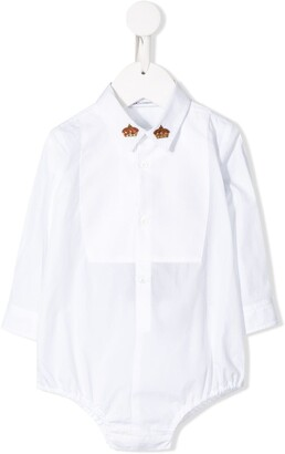 Dolce & Gabbana Crown Embroidery Shirt-Style Body
