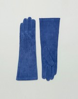 Lavand Long Leather Gloves