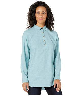 Royal Robbins Hemp Blend Long Sleeve (Frost Blue) Women's Long Sleeve Button Up