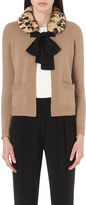 Claudie Pierlot Mariejo faux-fur collar knitted cardigan