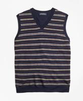 Brooks Brothers Merino Wool Fair Isle Vest