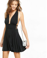 Express side tie fit and flare dress