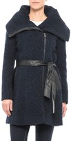 COLE HAAN SIGNATURE Cole Haan Belted Boucle Coat - Wool Blend (For Women)