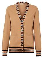 Burberry Women's Cauca Merino Wool Stripe Cardigan