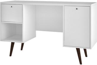 Manhattan Comfort Edgar 1-Drawer Mid Century Office Desk