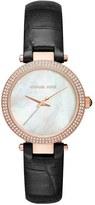MICHAEL Michael Kors 'Parker - Mini' Leather Strap Watch, 33mm