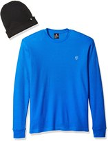 Southpole Men's Long Sleeve Basic Thermal and Beanie Combo Set