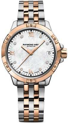 Raymond Weil Tango Diamond & Mother-Of-Pearl Stainless Steel Bracelet Watch
