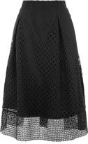 Warehouse Linear Skirt, Black
