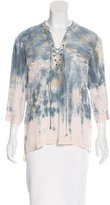 Gypsy 05 Gypsy05 Abstract Print Long Sleeve Blouse