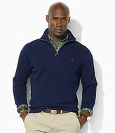 Polo Ralph Lauren Big & Tall Long-Sleeved Cotton Half-Zip Mockneck Sweater