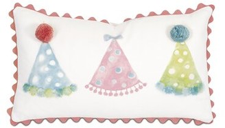 Arabella Eastern Accents Hand-Painted Party Hat Cotton Lumbar Pillow Eastern Accents