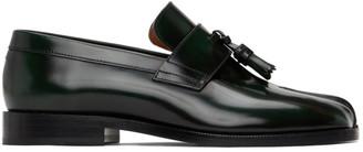 Maison Margiela Green Leather Tabi Loafers