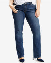 Levi's Plus Size 414 Relaxed-Fit Straight-Leg Jeans