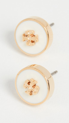 Tory Burch Kira Enamel Circle Stud Earrings