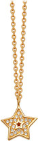 Astley Clarke Mini star 18ct yellow-gold plated pavé necklace